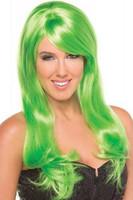 Peruukki - Vihreää sen olla pitää innokas Ituhippi häikäisee vihreässä