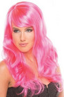 Peruukki - OHO pinkki, pitkä hiuksinen peruukki Pinksu