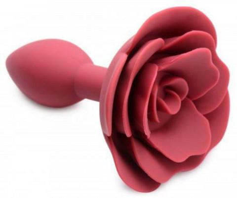 Anaalitappi silikoonia ruusu koristeella nätti