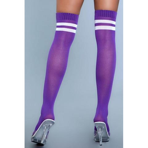 Yli polven sukat -  paksut ja pitkät polvisukat violetit