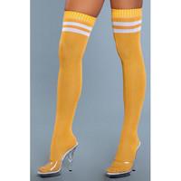 Yli polven sukat -  paksut ja pitkät keltaiset sukat