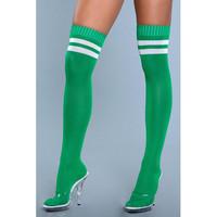Yli polven sukat -  paksut ja pitkät polvisukat kirkkaan vihreät