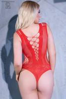 Bodysuit body läpinäkyvä ja ryhdikäs yläosa näyttävä verkkobody