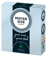 MISTER SIZE 47 mm - Vegaani kondomi joka on kuin toinen iho