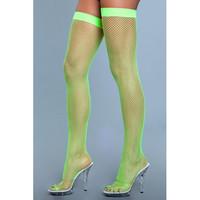Neon vihreät neon green verkkosukat sukkanauhaliiviin
