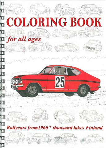 60-luvun ralliautot - värityskirja