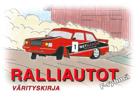 F-ryhmän ralliautot - värityskirja
