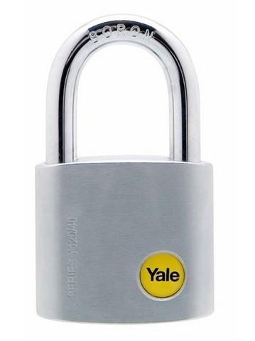 Yale kromattu messinkiriippulukko 40mm
