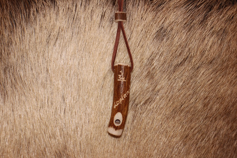 Reindeer Horn Whistle Necklace