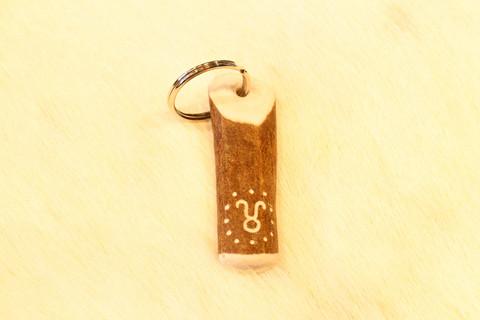 Reindeer Horn Horoscope Key Ring