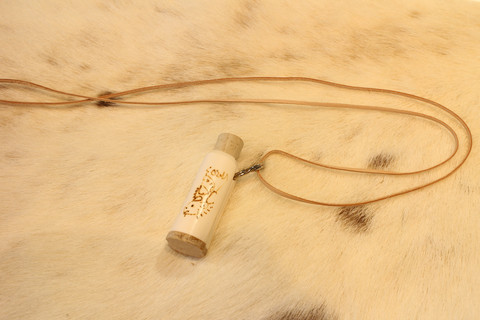 Reindeer Horn Powder inside Reindeer Horn Tube
