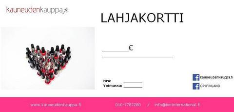 Lahjakortti Kauneudenkauppa.fi (arvo 120€)