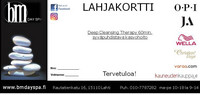 Lahjakortti bm Day Spa Lahti Deep Cleansing Therapy 60min.