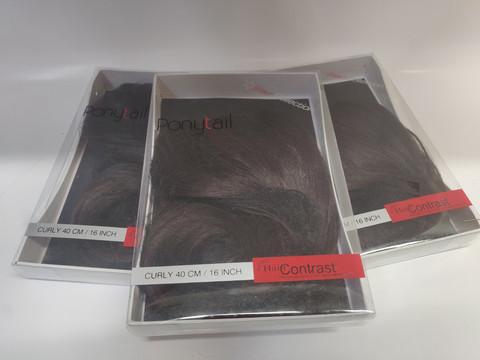Hair Contrast - Ponytail Dark Brown