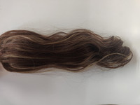 Hair Contrast - Ponytail - Brown with Highlights - Curly