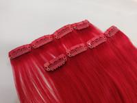 Hair Contrast - Aitohius Klipsipidennys - Red