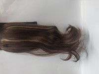 Hair Contrast - Ponytail Dark Brown With Highlights