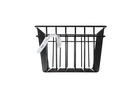 MAYN METAL WIRE STORAGE BASKET Black S
