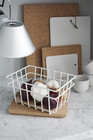 METAL WIRE STORAGE BASKET White XS