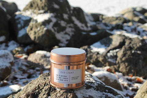 NENNU DESIGN Soy wax candle, rosegold