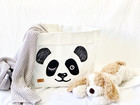 Panda storage basket, white L-size, ENJOY YOUR LIFE BY DEMI