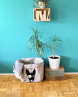 Bullterrier storage basket, grey L-size, ENJOY YOUR LIFE BY DEMI