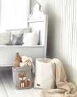 Fox storage basket grey, brown fox M-size, ENJOY YOUR LIFE BY DEMI