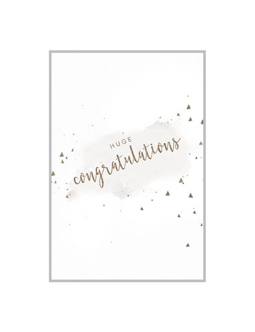 Postcard A6 Huge congratulations