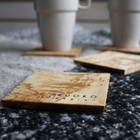 RUOKO design Coasters 4 pcs, curly birch