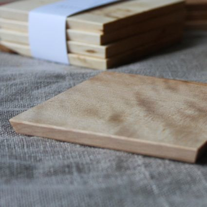 RUOKO design Coasters 4 pcs, birch