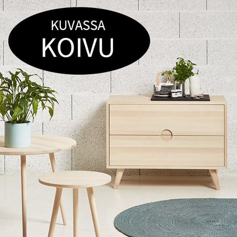 Priima Kaluste OIVA -side board with boxes, many colors