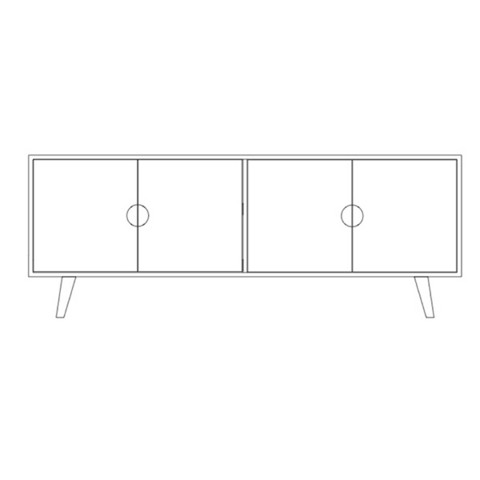 Priima Kaluste OIVA -sideboard with 2 cabinets, many colors