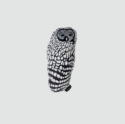 design palet OWL -pillow 30cm, B/W