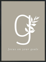 KOHTEESSA g - focus on your goals -juliste A3