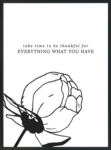 KOHTEESSA take time to be thankful -juliste A3