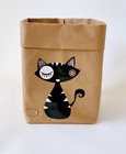 Cat storage basket, black brown M size ENJOY YOUR LIFE BY DEMI