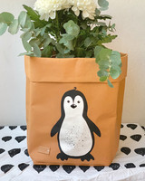 Penguin storage basket, brown M-size ENJOY YOUR LIFE BY DEMI
