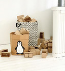 Penguin storage basket, brown S-size ENJOY YOUR LIFE BY DEMI