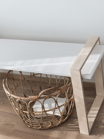 OHTO Nordic Home Design -LUOTO bench, white