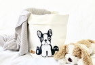 Dog storage basket, white M-size, ENJOY YOUR LIFE BY DEMI