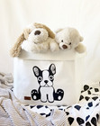 Dog storage basket, white L-size ENJOY YOUR LIFE BY DEMI