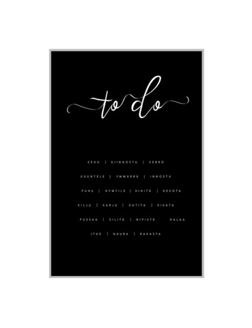 2xILO Poster A3 To do, black