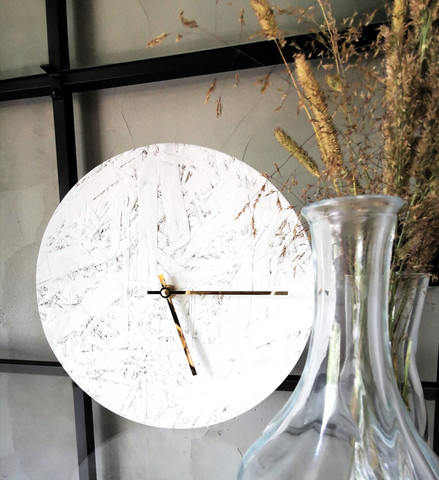 OHTO Nordic Home -LASTU Wall Clock, white/gold