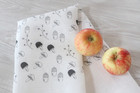 TEIJA HELIN kitchen towel mushroom, white