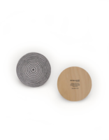 design palet ANNUAL RING -glass coaster 10cm, grey kelo