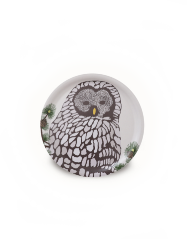 design palet OWL -tray 24cm, nature