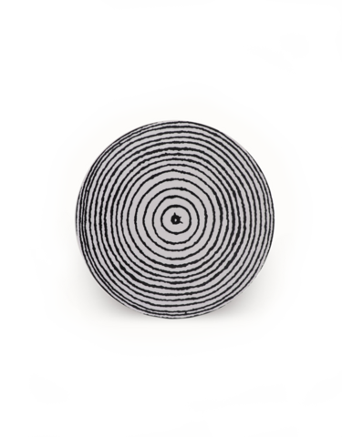 design palet ANNUAL RING -coaster 20cm, black and white