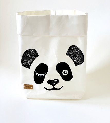 Panda storage basket, white M-size ENJOY YOUR LIFE BY DEMI