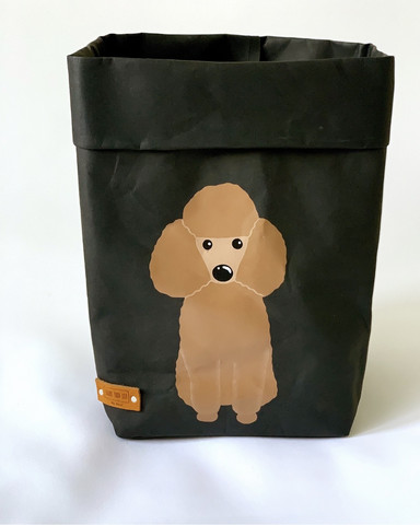 ENJOY YOUR LIFE BY DEMI Poodle storage basket, black