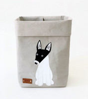 Terrier storage basket, grey M-size. ENJOY YOUR LIFE BY DEMI